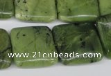 CDJ127 15.5 inches 20*20mm square Canadian jade beads wholesale