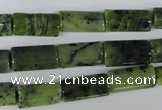 CDJ132 15.5 inches 8*16mm flat tube Canadian jade beads wholesale