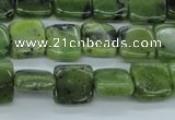 CDJ149 15.5 inches 8*8mm square Canadian jade beads wholesale