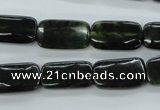 CDJ153 15.5 inches 10*18mm rectangle Canadian jade beads wholesale