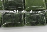CDJ154 15.5 inches 18*25mm rectangle Canadian jade beads wholesale