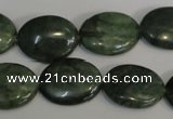CDJ28 15.5 inches 15*20mm oval Canadian jade beads wholesale