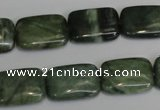 CDJ31 15.5 inches 13*18mm rectangle Canadian jade beads wholesale