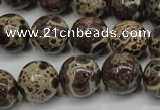 CDM06 15.5 inches 14mm round African dalmatian jasper beads