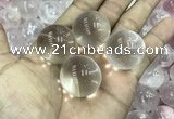 CDN01 25mm round white crystal decorations wholesale