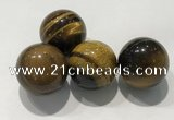 CDN1015 25mm round yellow tiger eye decorations wholesale