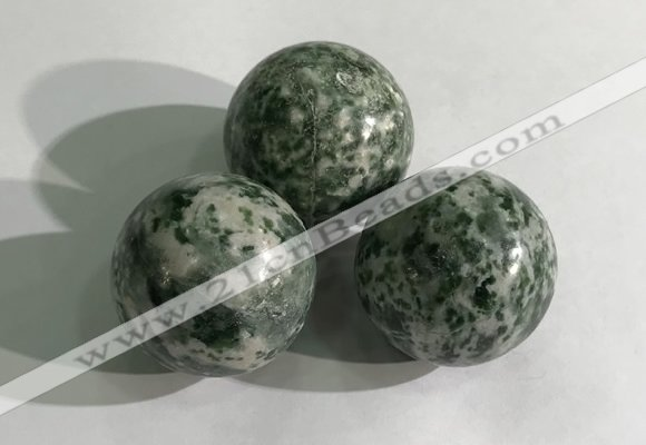 CDN1159 30mm round Qinghai jade decorations wholesale
