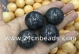 CDN12 30mm round pyrite gemstone decorations wholesale