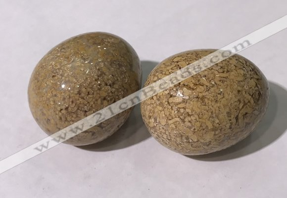 CDN1392 35*45mm egg-shaped jasper decorations wholesale