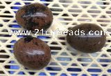 CDN310 30*40mm egg-shaped mahogany obsidian decorations wholesale