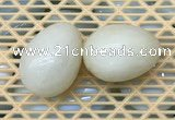 CDN335 35*50mm egg-shaped yellow jade decorations wholesale