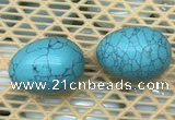 CDN342 35*50mm egg-shaped imitation turquoise decorations wholesale