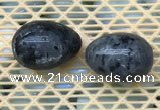 CDN358 35*50mm egg-shaped black labradorite decorations wholesale