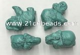 CDN383 20*40*30mm elephant imitation turquoise decorations wholesale