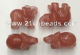 CDN385 20*40*30mm elephant cherry quartz decorations wholesale