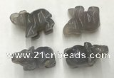 CDN386 20*40*30mm elephant grey agate decorations wholesale