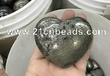 CDN41 65*70mm heart pyrite gemstone decorations