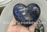 CDN42 65*70mm heart pyrite gemstone decorations