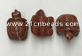 CDN440 28*45*22mm turtle red jasper decorations wholesale