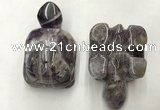 CDN454 38*55*28mm turtle dogtooth amethyst decorations wholesale
