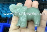 CDN514 33*65*45mm elephant green aventurine decorations wholesale
