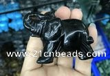 CDN519 33*65*45mm elephant black agate decorations wholesale