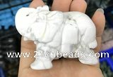 CDN532 35*80*55mm elephant white howlite decorations wholesale