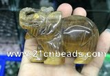 CDN535 35*80*55mm elephant yellow tiger eye decorations wholesale