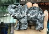 CDN536 35*80*55mm elephant black labradorite decorations wholesale