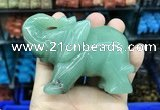 CDN539 35*80*55mm elephant green aventurine decorations wholesale