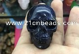 CDN553 35*50*40mm skull blue goldstone decorations wholesale