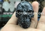 CDN555 35*50*40mm skull snowflake obsidian decorations wholesale