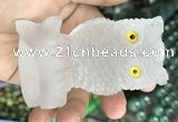 CDN585 50*80mm owl white crystal decorations wholesale