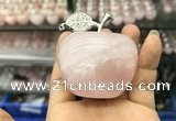 CDN597 40*55mm apple rose quartz decorations wholesale