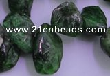CDP75 15.5 inches 8*15mm - 10*20mm diopside chips gemstone beads