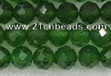 CDP78 15.5 inches 6mm faceted round diopside gemstone beads