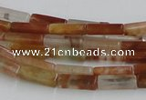 CDQ08 15.5 inches 4*13mm rectangle natural red quartz beads wholesale