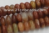 CDQ18 15.5 inches 4*8mm rondelle natural red quartz beads wholesale