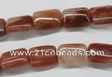 CDQ21 15.5 inches 12*16mm rectangle natural red quartz beads wholesale