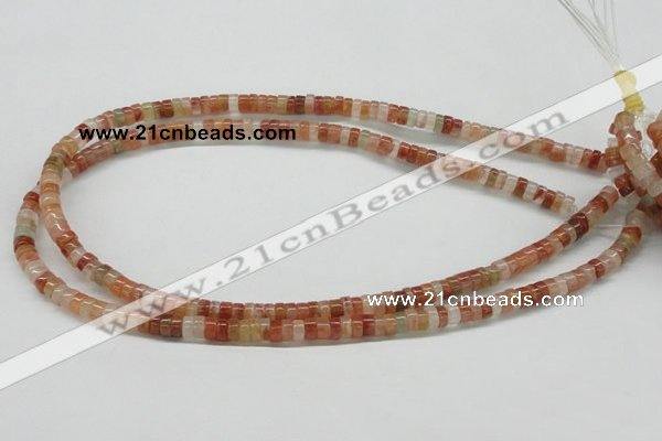 CDQ29 15.5 inches 2*4mm rondelle natural red quartz beads