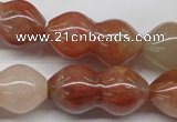 CDQ42 15.5 inches 15*30mm calabash natural red quartz beads