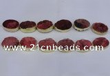 CDQ504 20*30mm - 22*30mm oval druzy quartz beads wholesale