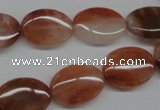 CDQ53 15.5 inches 13*18mm oval natural red quartz beads wholesale