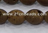 CDQ623 8 inches 10*12mm rice druzy quartz beads wholesale