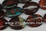 CDS209 15.5 inches 15*20mm oval dyed serpentine jasper beads