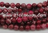 CDT02 15.5 inches 6mm round dyed aqua terra jasper beads