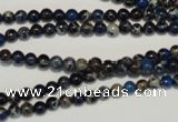 CDT220 15.5 inches 4mm round dyed aqua terra jasper beads