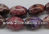 CDT32 15.5 inches 13*18mm rice dyed aqua terra jasper beads
