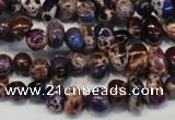CDT390 15.5 inches 6*9mm nugget dyed aqua terra jasper beads