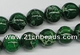 CDT70 15.5 inches 12mm round dyed aqua terra jasper beads